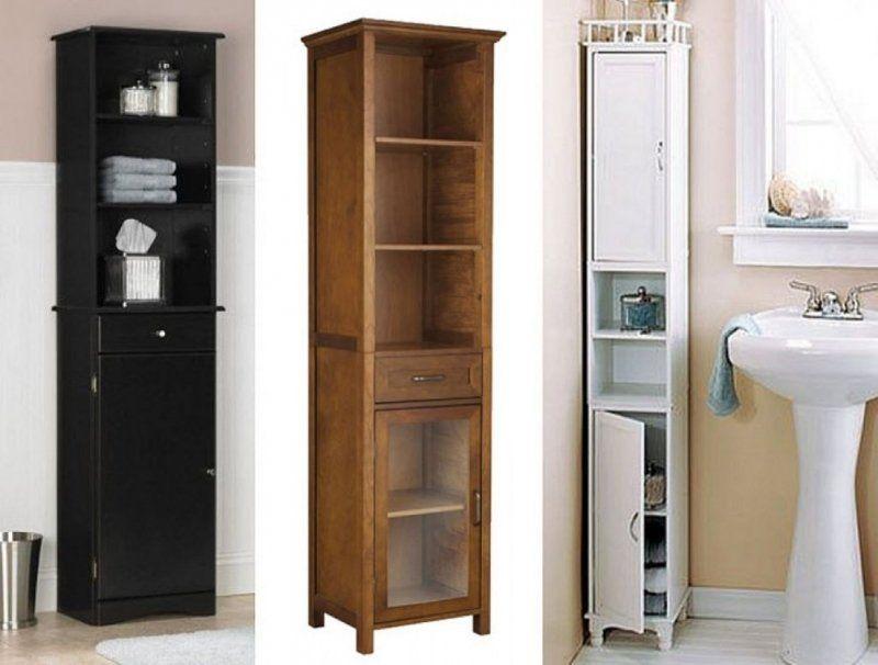 Narrow Pantry Cabinet Ideas On Foter In 2021 Tall Bathroom Storage Bathroom Floor Cabinets Small Bathroom Storage