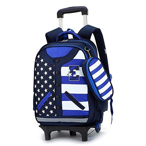 RYC Trolley Bag Cadeaux Rentrée Scolaire Sac à Dos avec Roulettes Cartable  à Roulette Sac Enfant