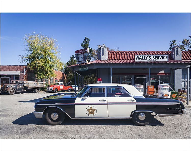 Print Of Usa North Carolina Mt Airy Town Was The Model For Mayberry In The Tv Series Andy North Carolina Towns Filling Station