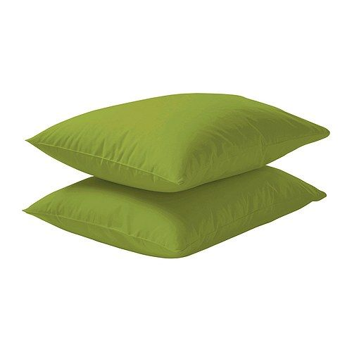 Pillowcases from Ikea. Love them, own them! #bedlinen #bedroom #green