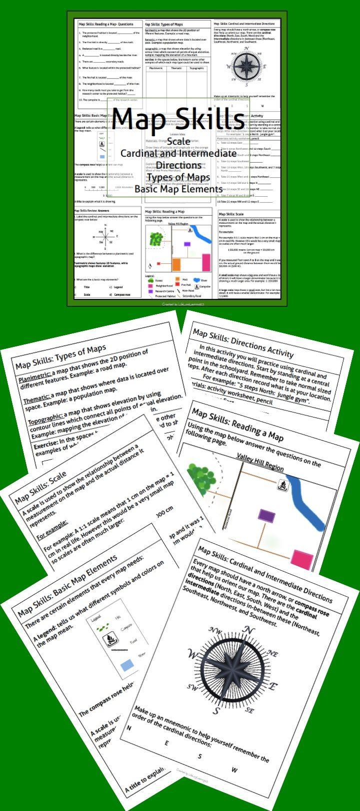 Map Skills Package Map Skills 6th Grade Social Studies Map Skills Worksheets