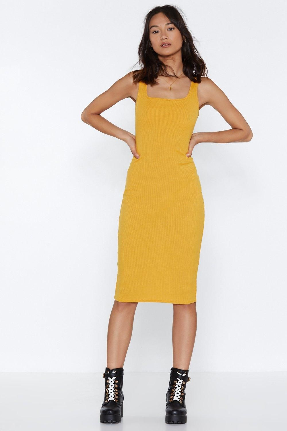 4bc1d4c85b390 Tight Like That Ribbed Midi Dress | Nastygal | Dresses, Fashion ...