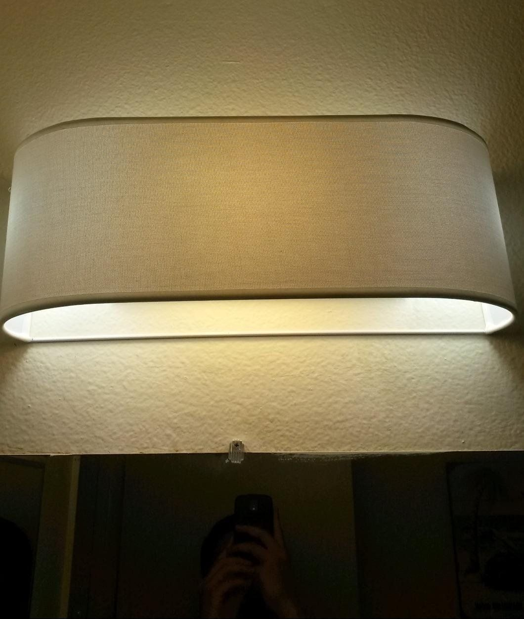 shades for bathroom vanity lights. Catalina x White Linen Fabric Bathroom Vanity Light Refresh Kit  Fits Over a 3 light Hollywood Style Fixture Cover for hideous bathroom strip lights 20 7 in 21