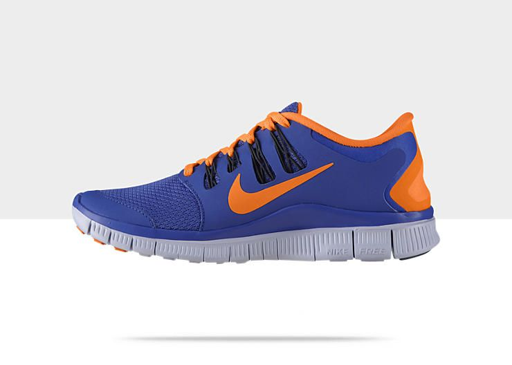 Nike Free 5.0+ Women's Running Shoe | Blue and Orange | $79.97