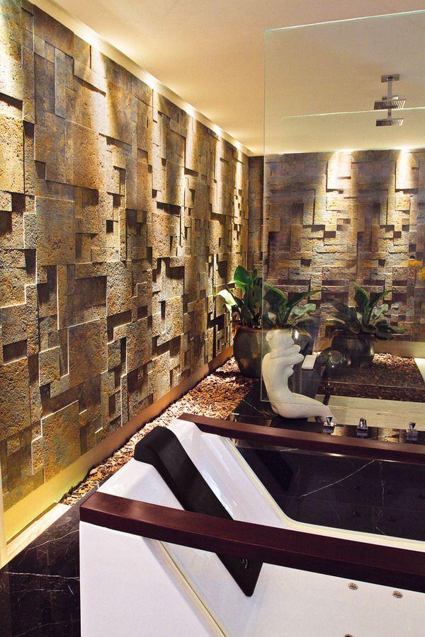 Oxyden castelatto decora o pisos e revestimentos for 3d feature wallpaper