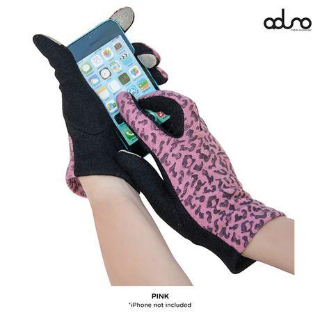 Aduro Facio Cheetah Print Touchscreen Gloves - Assorted Colors at 77% Savings off Retail!