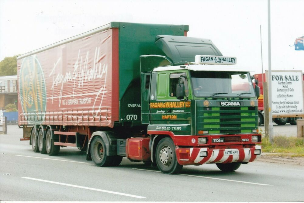 Col Photo Fagan Whalley Scania 113 Artic Curtainside Trailer N476 Hfv Na Commercial Vehicle Whalley Haulage