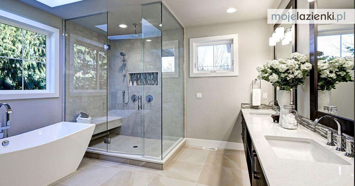 Nowoczesna łazienka Z Wanną I Prysznicem Mieszkanie W 2019