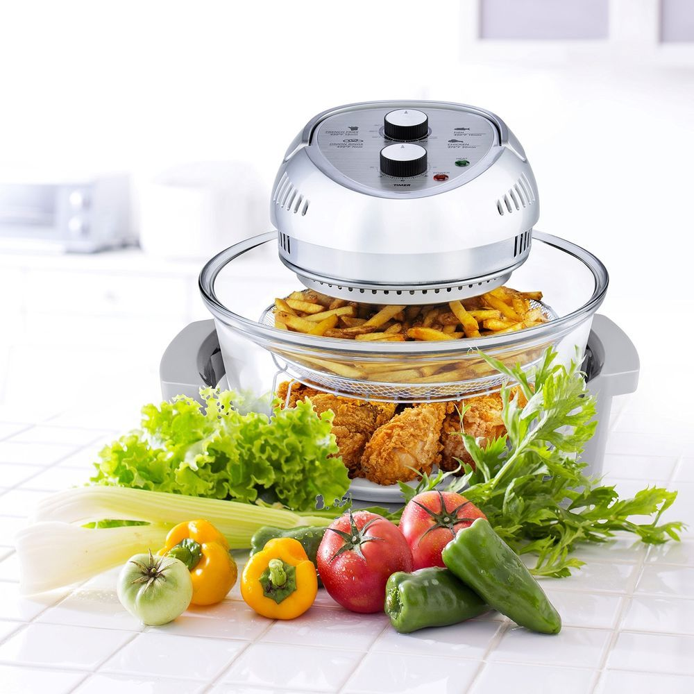 Big Oilless Air Fryer, allows to fry, bake, grill & roast