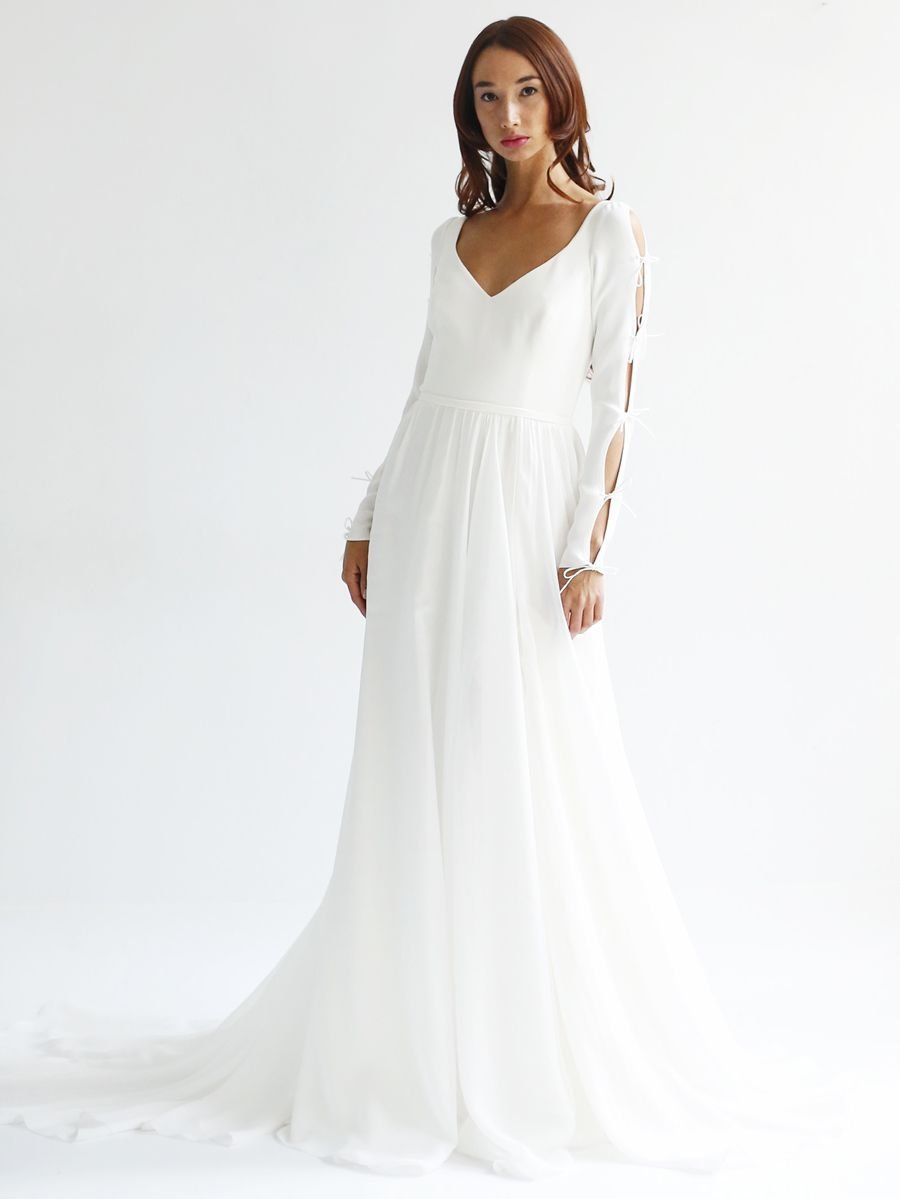 Leanne marshall spring airy wedding dresses with intricate