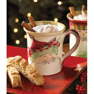 Photo of VIETRI Old St Nick Coffee Mug | Birch Lane