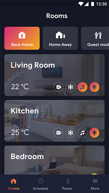 Smart Home Android App + Smart Home IOS App Template