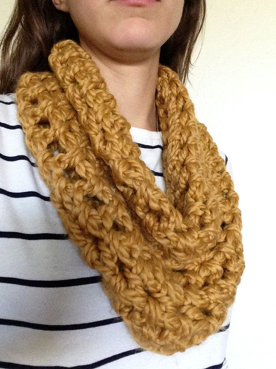 Cozy Cowl  Golden Rod  Double Stitch by EastToWestCo on Etsy, $15.00
