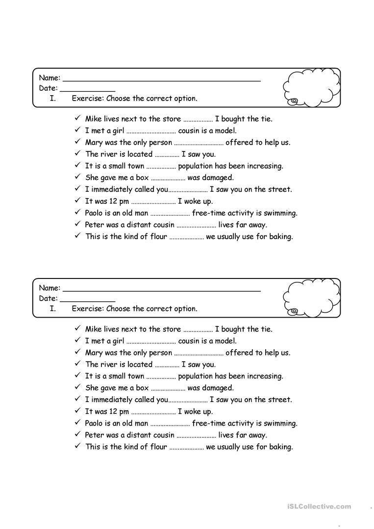 worksheet Relative Pronoun Worksheet relative pronouns quiz ingles basico pinterest english lessons quiz