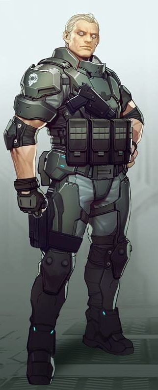 Ghost In The Shell Batou Ghost In The Shell Cyberpunk Character Sci Fi Concept Art