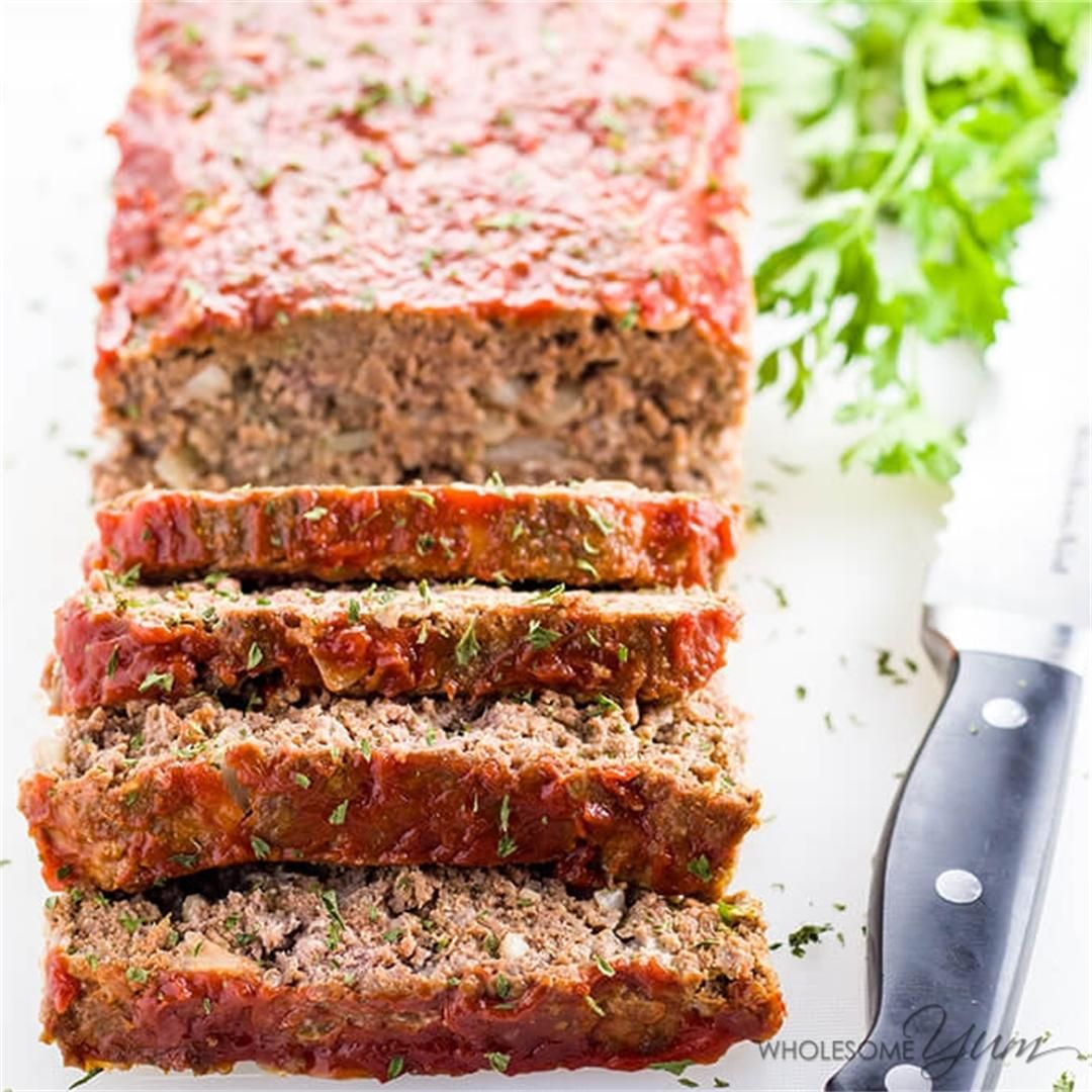 Low Carb Meatloaf Paleo Gluten Free By Wholesomeyum
