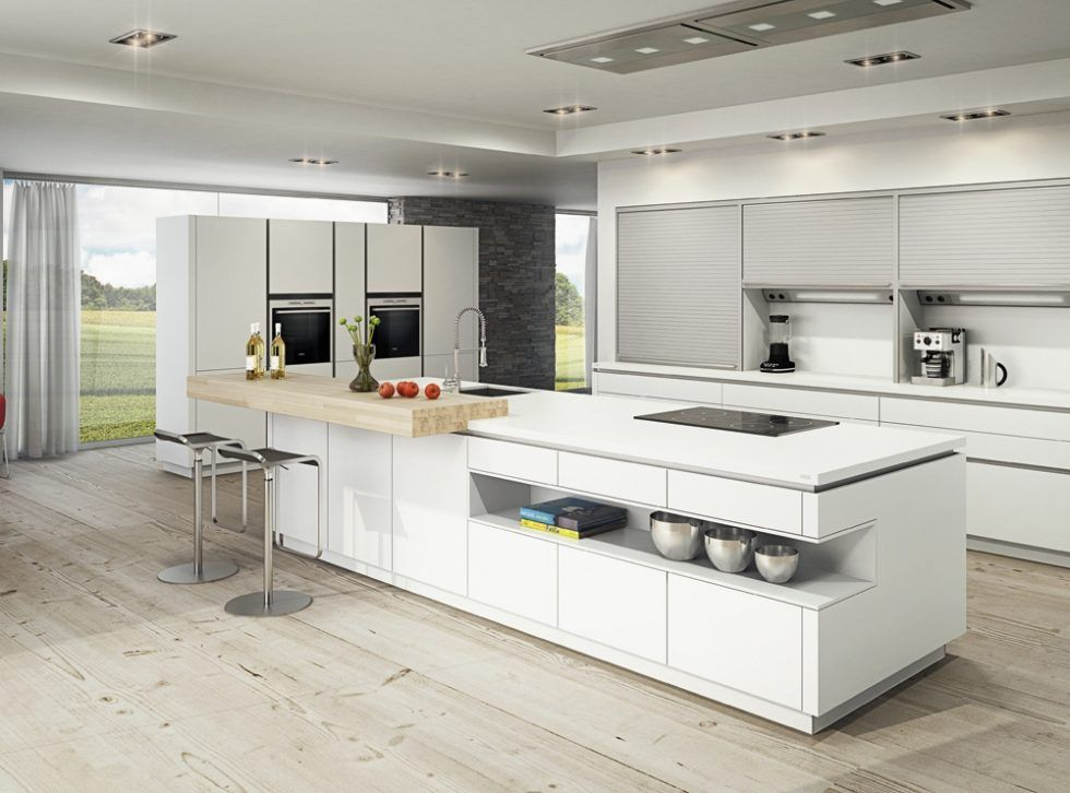 Cocina moderna con isla | cocinas grandes | Pinterest | Cocina ...