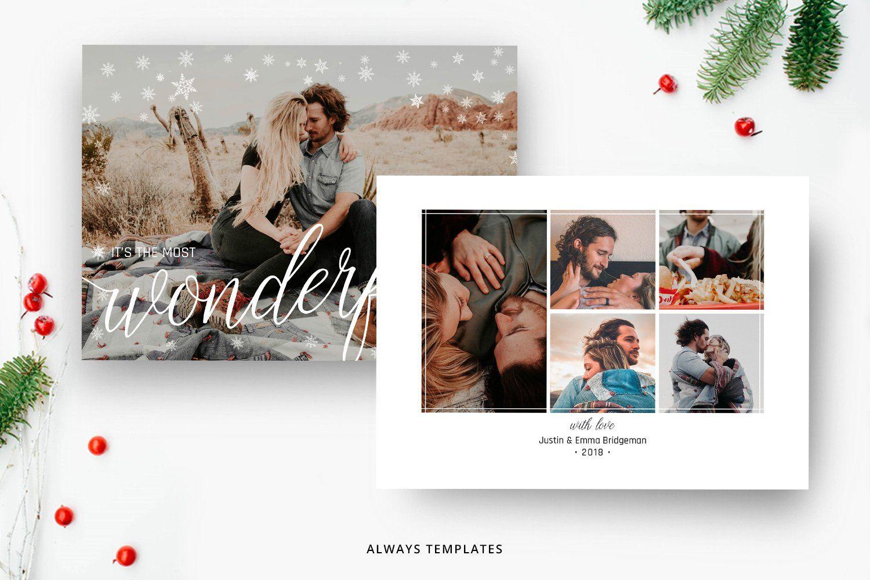Christmas Card Template Cc015 Christmas Card Template Holiday Card Template Christmas Photo Cards