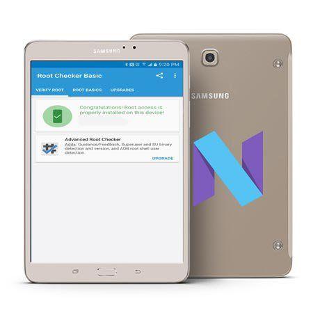 Root Samsung Galaxy Tab S2 SM-T715N0 Nougat Install TWRP 3 1