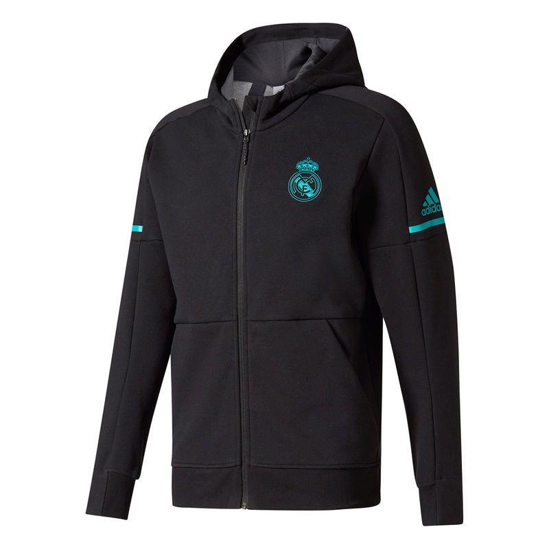 Men's adidas Black Real Madrid Anthem Squad Jacket | Real