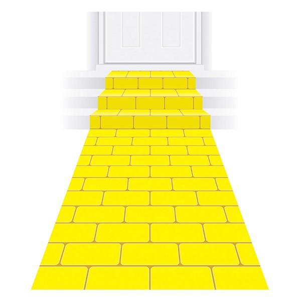 Yellow Brick Road Floor Runner In 2020 Wizard Of Oz Decor Yellow Brick Road Space Party Decorations