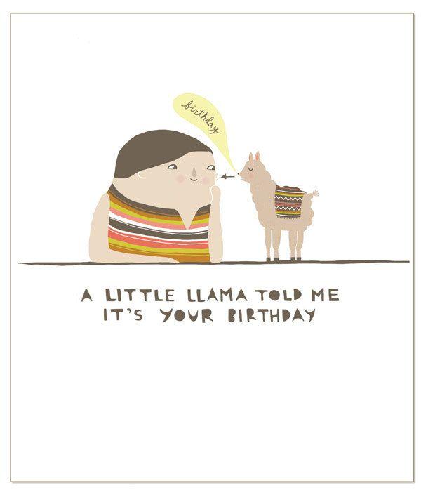 Little Llama Greeting Card 400 via Etsy Gift Ideas