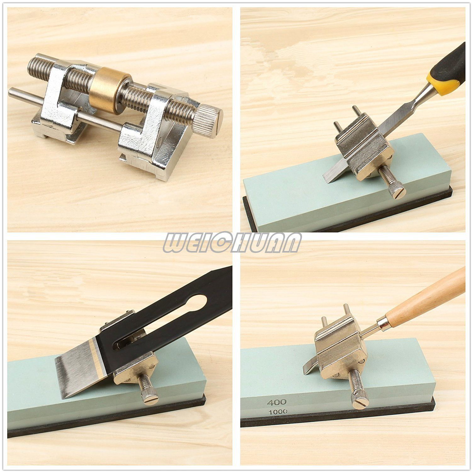 Weichuan Stainless Steel Honing Guide For Wood Chisel Fixed Angle Knife Sharpener Planer Blade Sharpeningfits Pla Blade Sharpening Knife Sharpening Wood Chisel