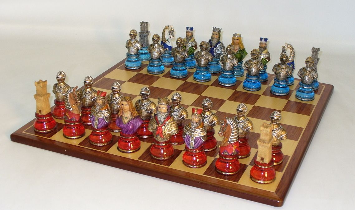 The game supply camelot busts acrylic chess set with - Inexpensive chess sets ...