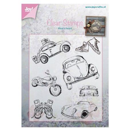joy crafts tampon dessin voiture moto th me gar on th me. Black Bedroom Furniture Sets. Home Design Ideas