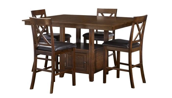 Slumberland Furniture   Woodwyn Collection   Olsen Oak Counter Dining Set    Slumberland Furniture Stores andSlumberland Furniture   Woodwyn Collection   Olsen Oak Counter  . Sienna Collection Black Counter Dining Table. Home Design Ideas