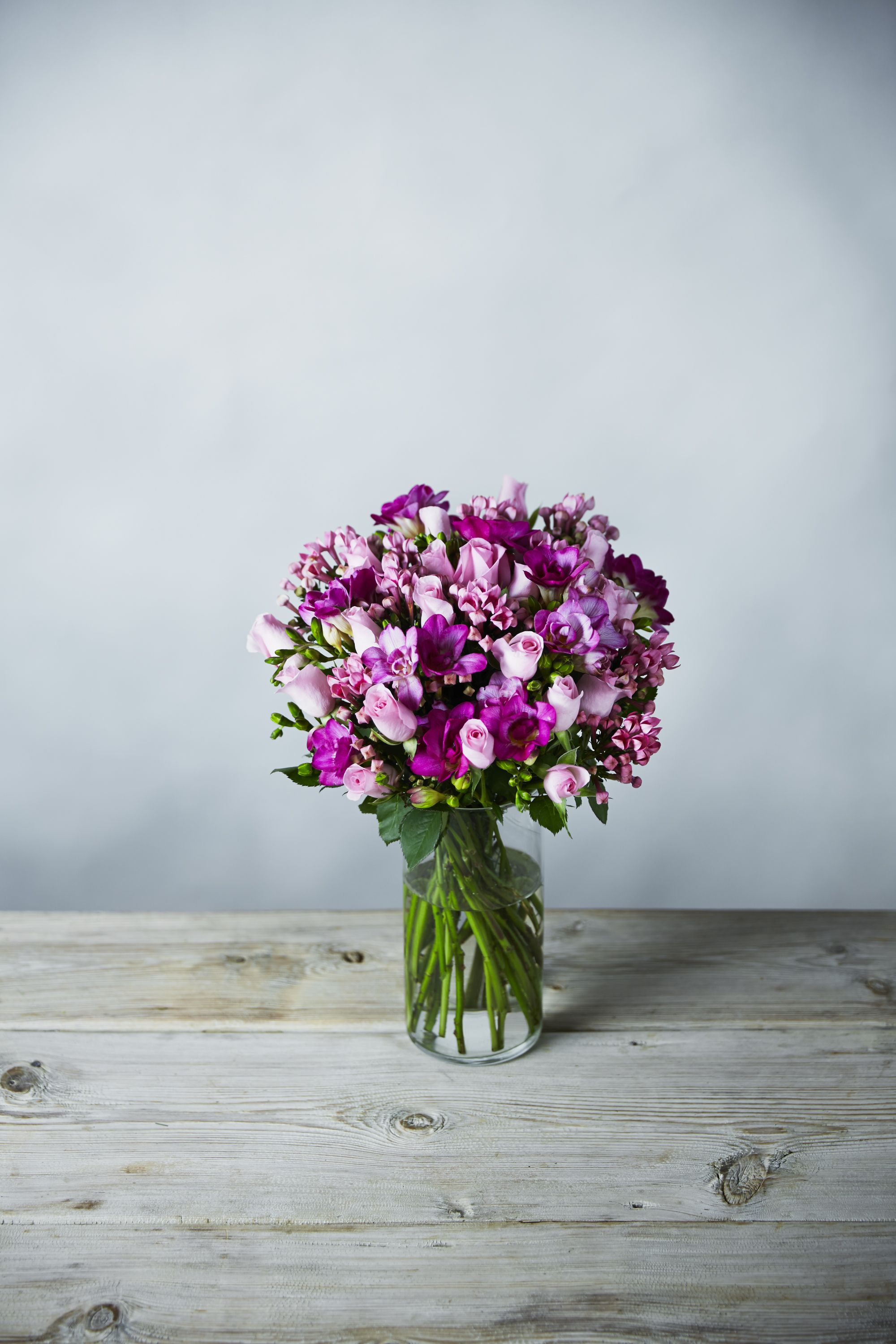 This super freesia and rose posy is a classic combination of this super freesia and rose posy is a classic combination of delicately scented freesias blushing izmirmasajfo