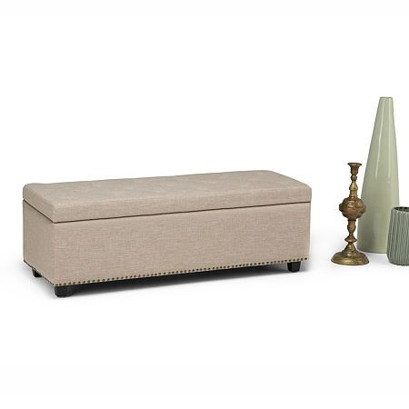 Photo of Hamilton Large Storage Ottoman Bench, One Size , White