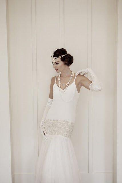 Mariages r tro robes de mari es style ann es 20 30 wedding art deco ann es 20 30 - Style annee 20 ...
