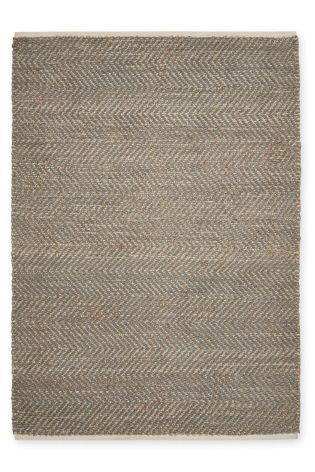 Jute And Chenille Mix Grey Rug From The Next Uk Online