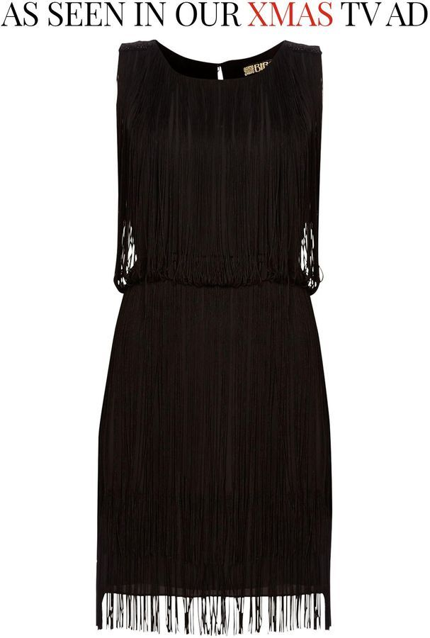 Biba Fringed beaded shoulder dress | Modern Dresses Inspired by the ...