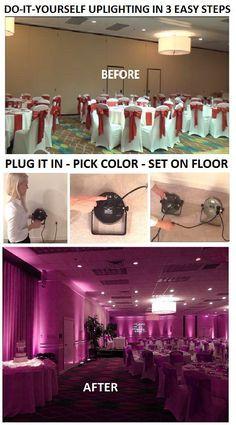 Uplighting wedding assessories by lisa acuna pinterest renting do it yourself uplighting in 3 easy steps 1 plug it in solutioingenieria Gallery