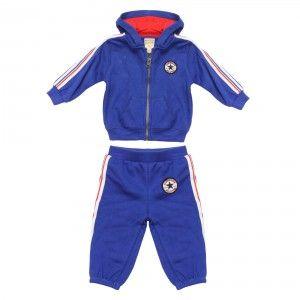 733138e771e4 CONVERSE Chuck Fleece Tracksuit Infant - Converse Blue   White   Red ...