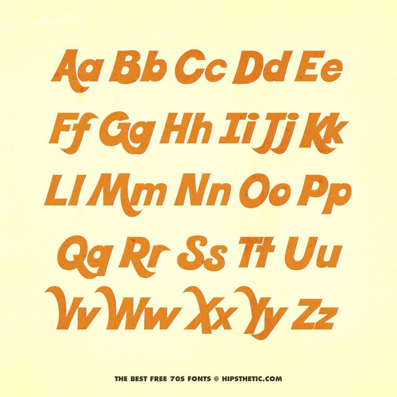 The 12+ Best Free 70s Fonts Free 70s fonts, Aesthetic