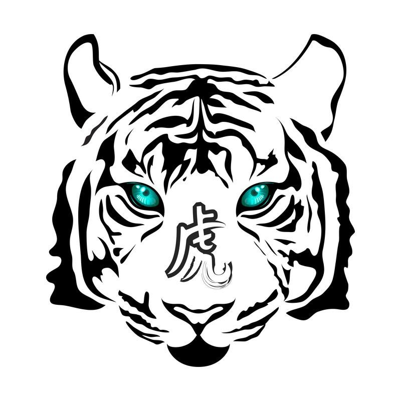 free zodiac tattoo designs tiger zodiac tiger tattoo and tattoo rh pinterest com Auburn University Window Decals Auburn College Logo
