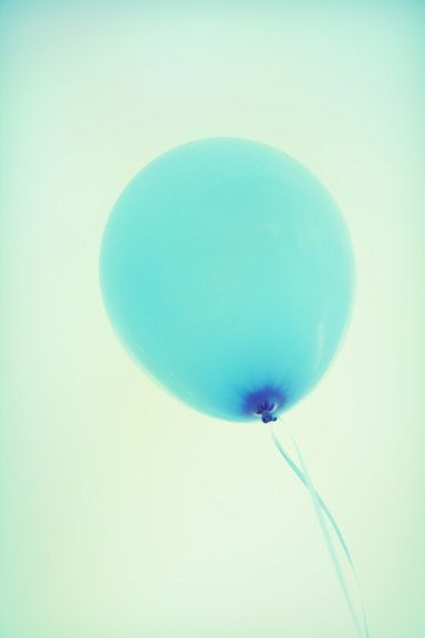 """Balloon Photography Pale Blue Sky Pastel Party Children Wall Art """"Balloon"""" on Etsy, $15.00"""
