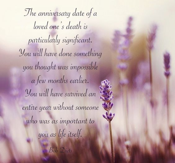 Quote About Death Of A Loved One: The Anniversary Date Of ...