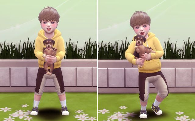 Toddler & Puppy Pose by A Lucky Day Sims