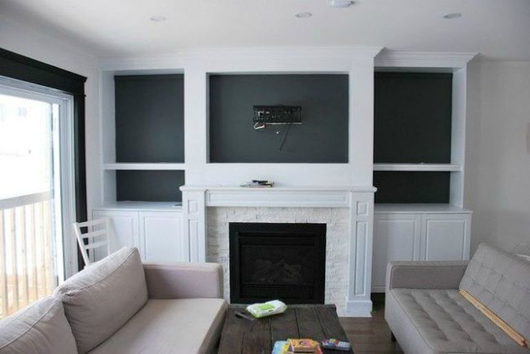 DIY Library Wall - Billy Built-in Bookcases | Fireplace ...