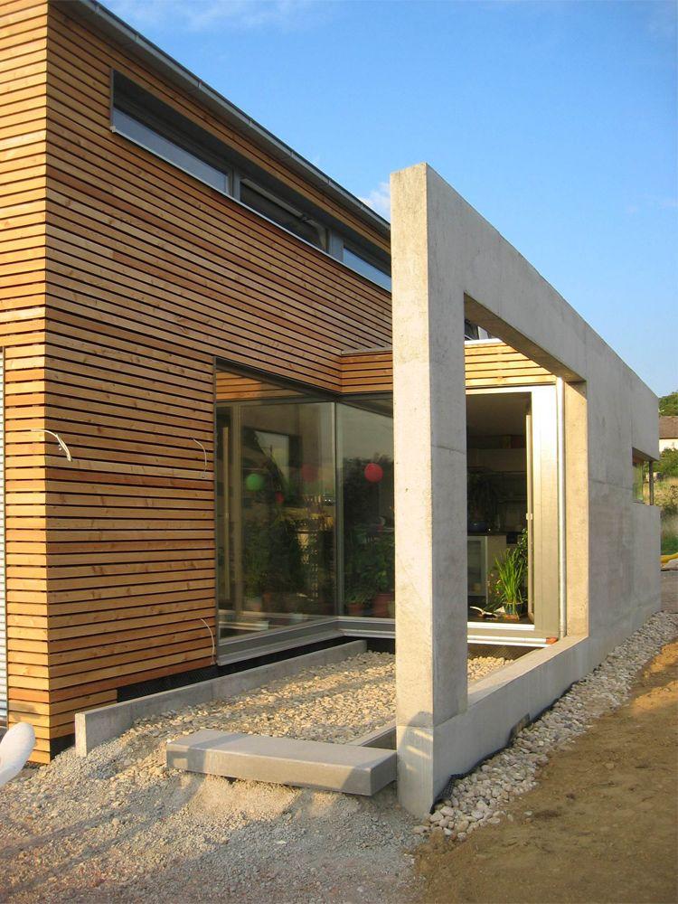 Architectoo karlsruhe wohnhaus braun gaggenau oberweier for Hausfassade braun
