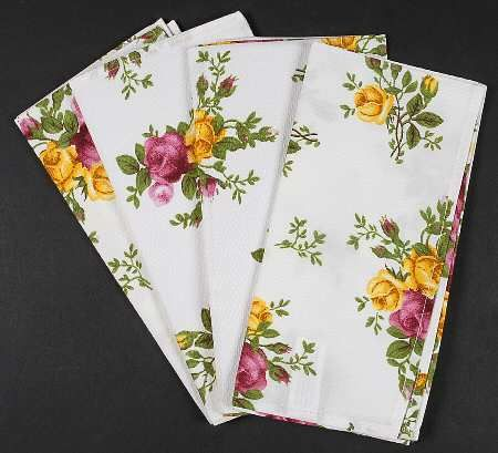 Royal Albert Old Country Roses Set Of 4 Cloth Napkins Country