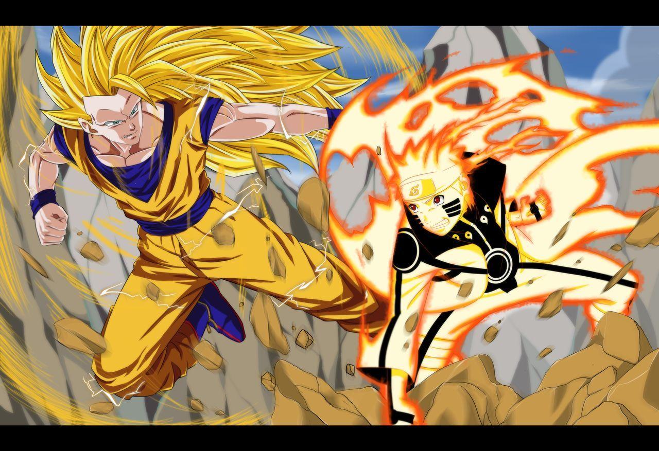 Commission Naruto Vs Goku By Dannex009 On Deviantart Naruto Vs Naruto Goku