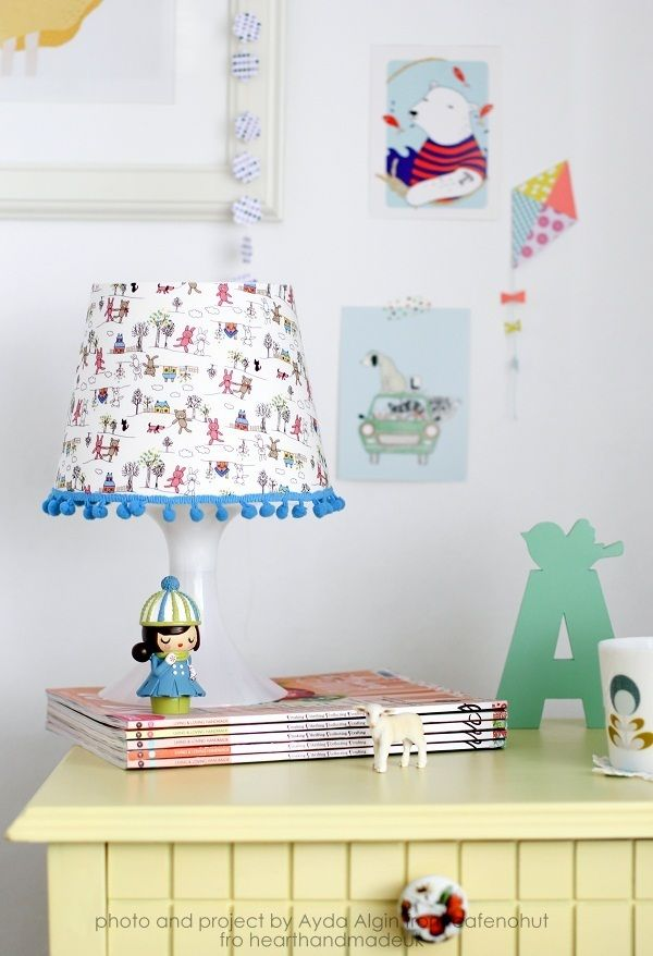 DIY Fabric Covered Lampshade
