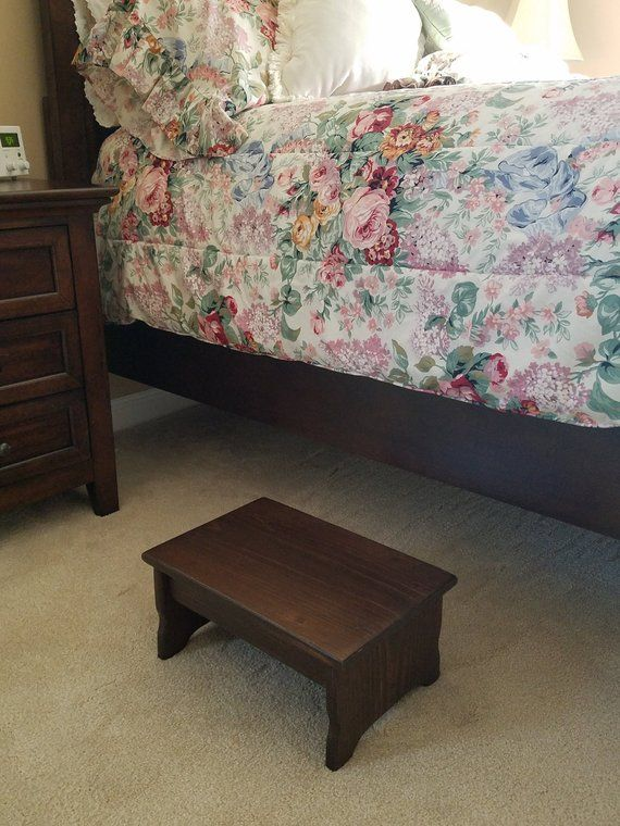 Bedside Step Stools For Adults: Handcrafted Heavy Duty Step Stool, Solid Wood, Adult