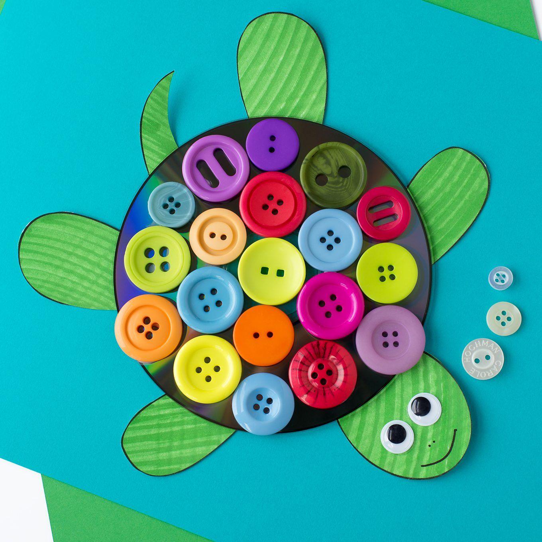 Cd ve Eva Kağıdı ile Kaplumbağa Yapımı
