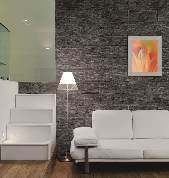 Parement Mural Ardoisère Gris Anthracite De PIERRA En Pierre Reconstituée  Pour Un #design Du0027